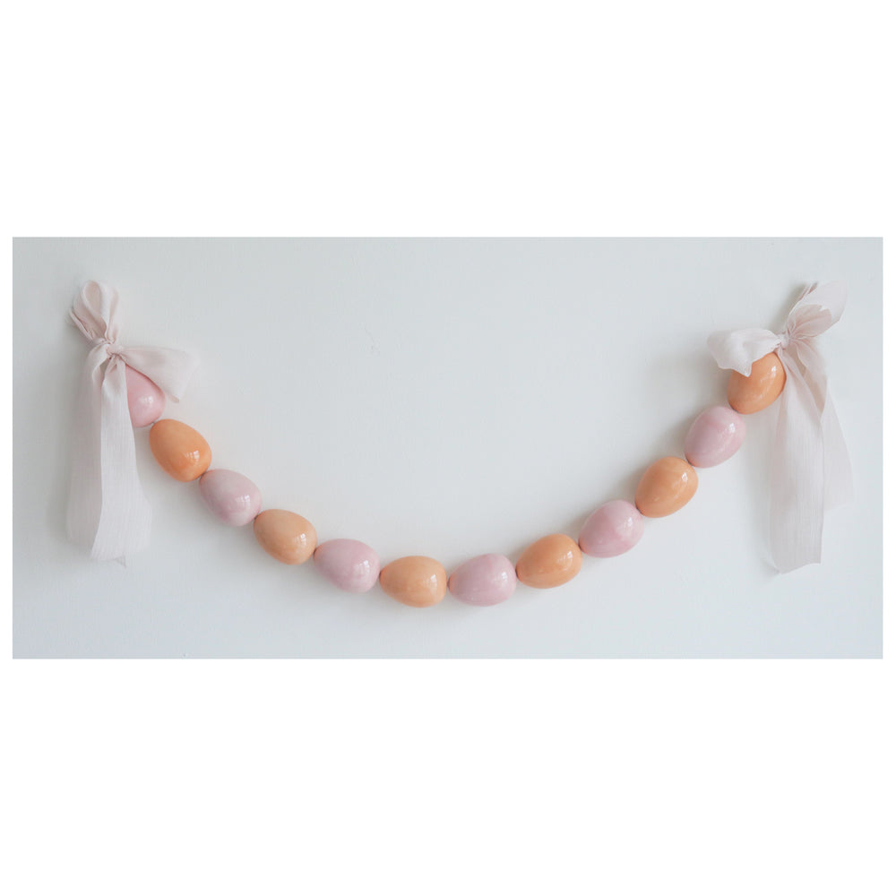 Easter Egg Garland in Pink and Coral