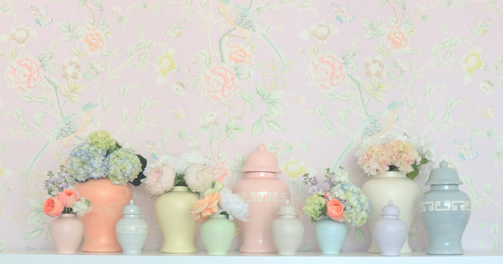 """Chinoiserie Garden"" Wallpaper in Lilac by Lo Home x Tashi Tsering"