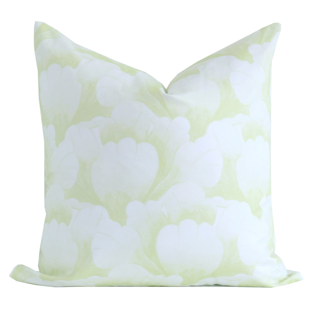 """Garden Scallop"" Pillow by Lo Home x Tashi Tsering in Celery Green"