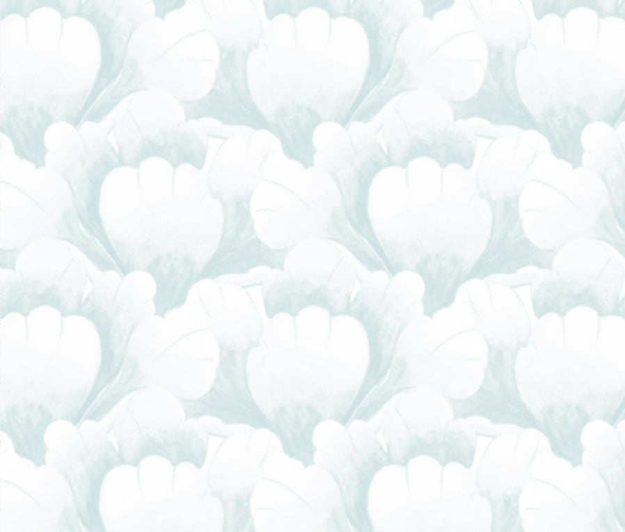"""Garden Scallop"" Wallpaper in Sky by Lo Home x Tashi Tsering"