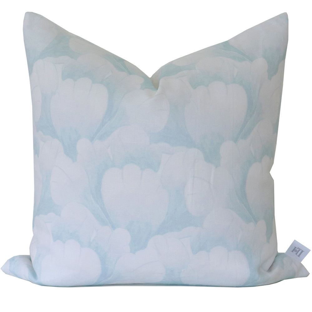 """Garden Scallop"" Pillow by Lo Home x Tashi Tsering in Sky"