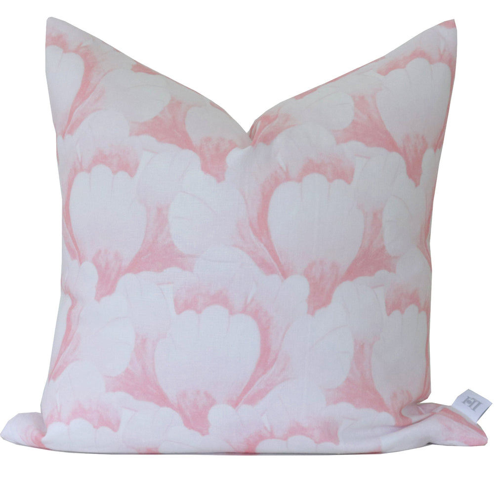 """Garden Scallop"" Pillow by Lo Home x Tashi Tsering in Blush"