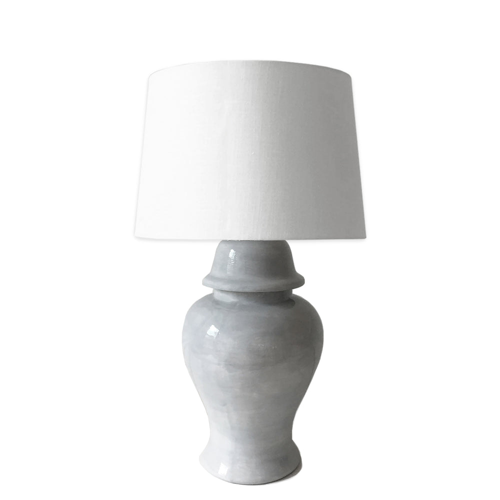 Light Gray Ginger Jar Lamp