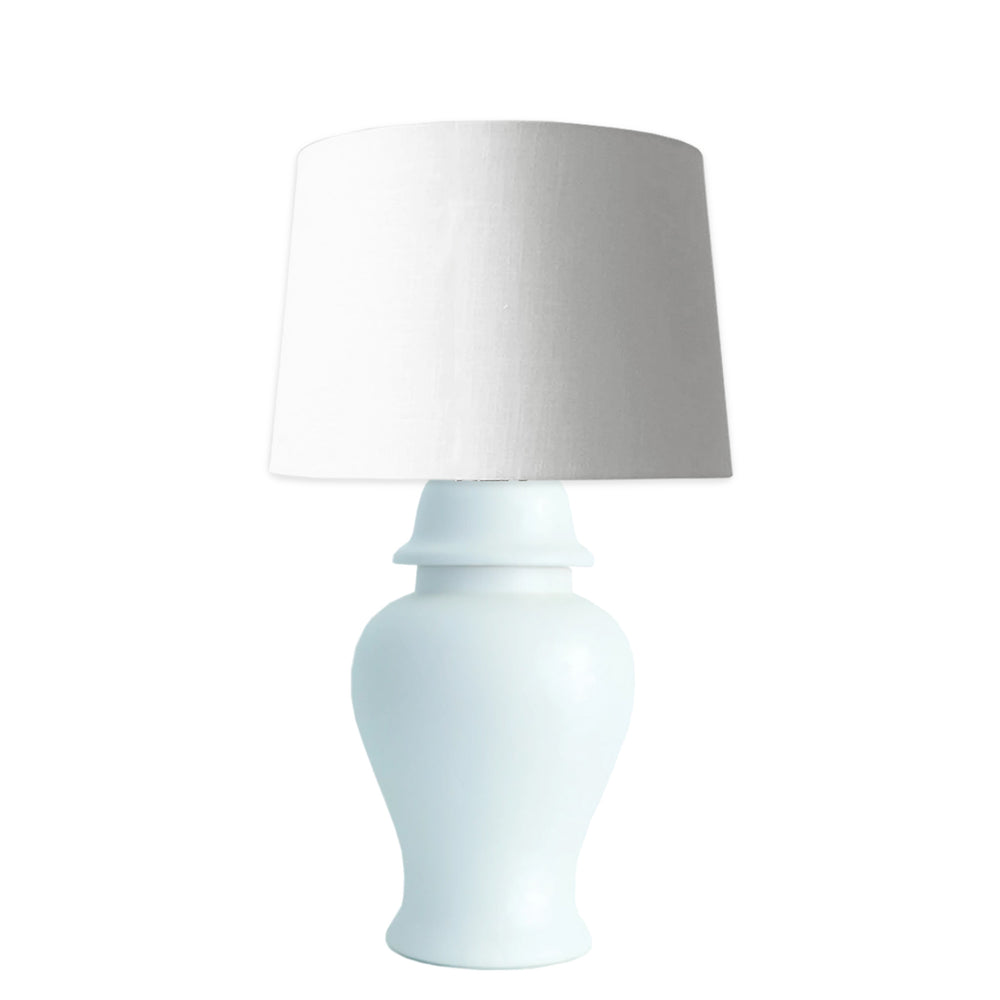 Morning Mist Blue Matte Ginger Jar Lamp