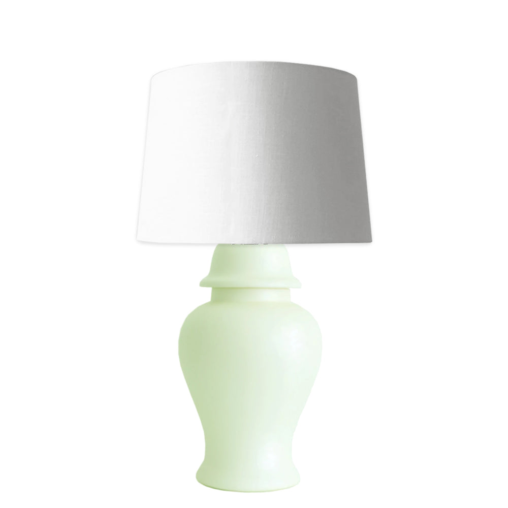 Celadon Green Matte Ginger Jar Lamp