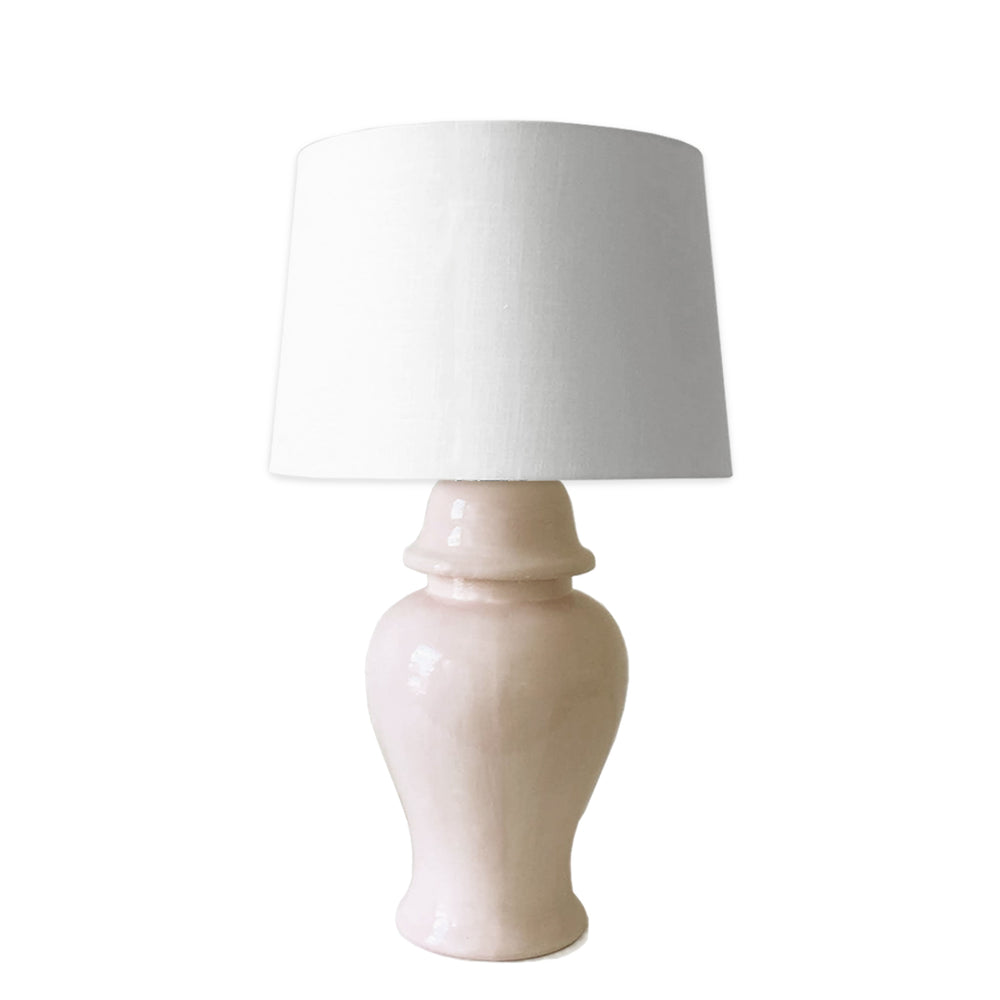 Beige Ginger Jar Lamp