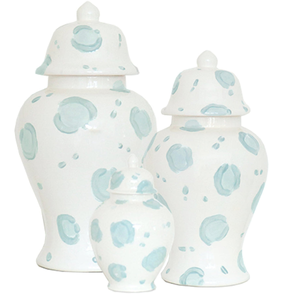 Summer Exclusive! Blue Leopard Print Ginger Jars