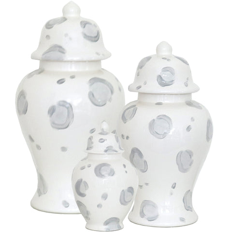 Summer Exclusive! Light Gray Leopard Print Ginger Jars