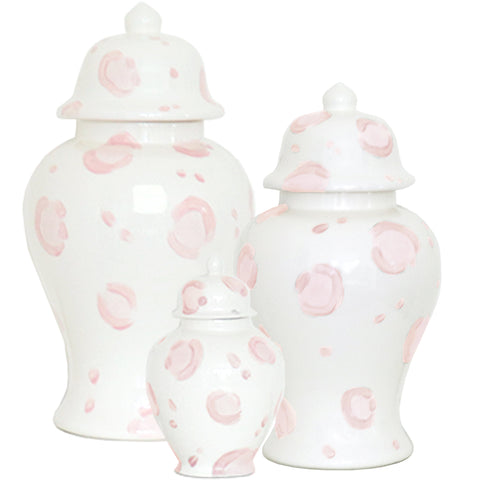 Summer Exclusive! Light Pink Leopard Print Ginger Jars