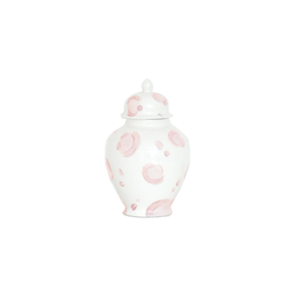 Light Pink Leopard Print Ginger Jars