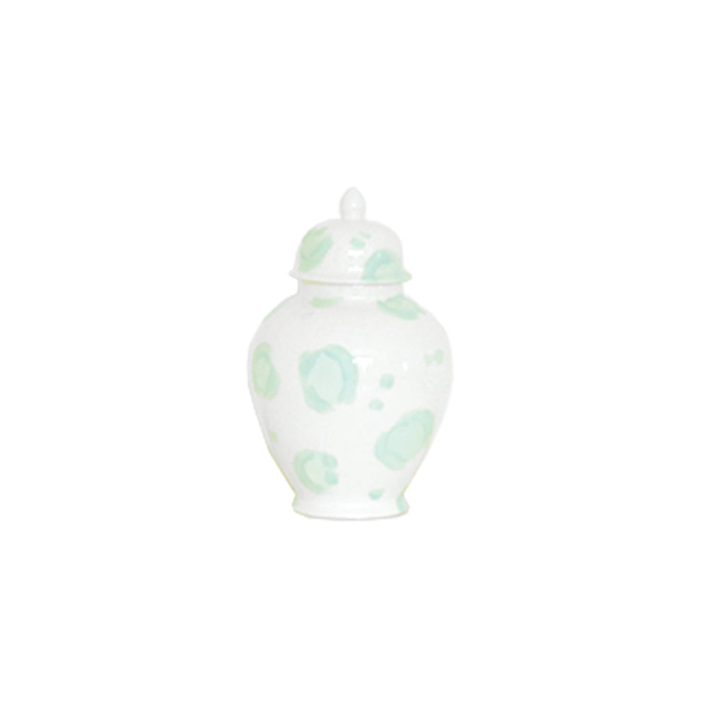 Sea Glass Leopard Print Ginger Jars