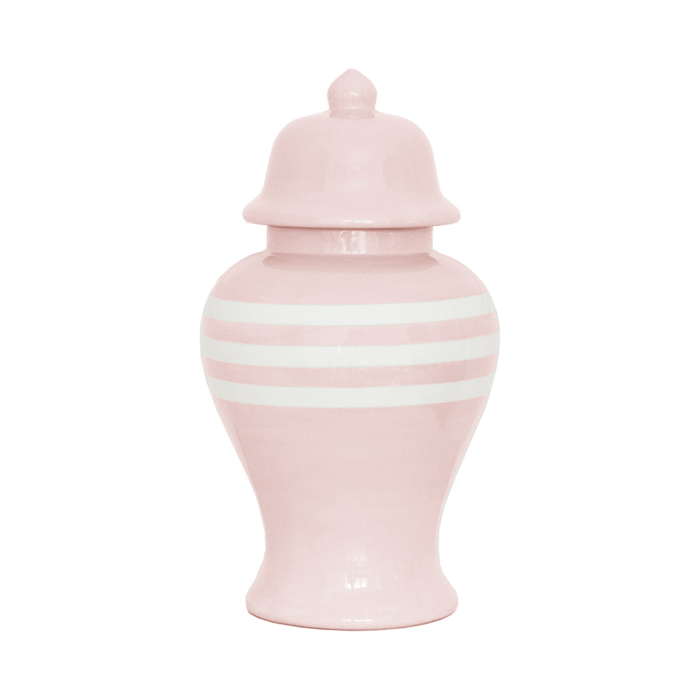 Cherry Blossom Pink Striped Ginger Jars
