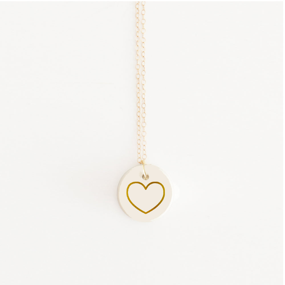 """Beauty is Within the Heart"" Pendant Necklace"