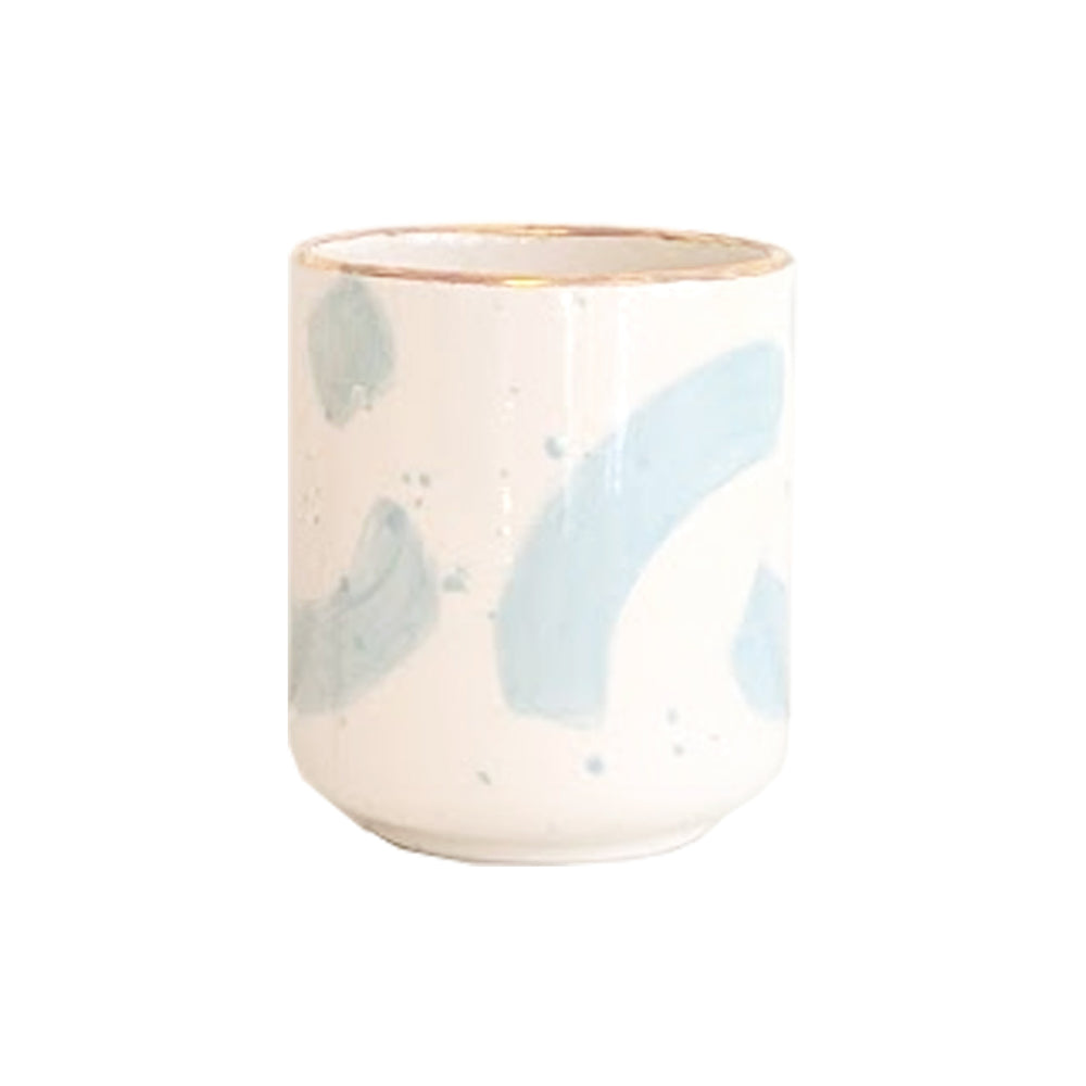 Brushstroke Refillable Candle Holder and Pure Beeswax Candle