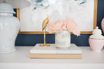 Hydrangea Light Blue Ginger Jar Lamp