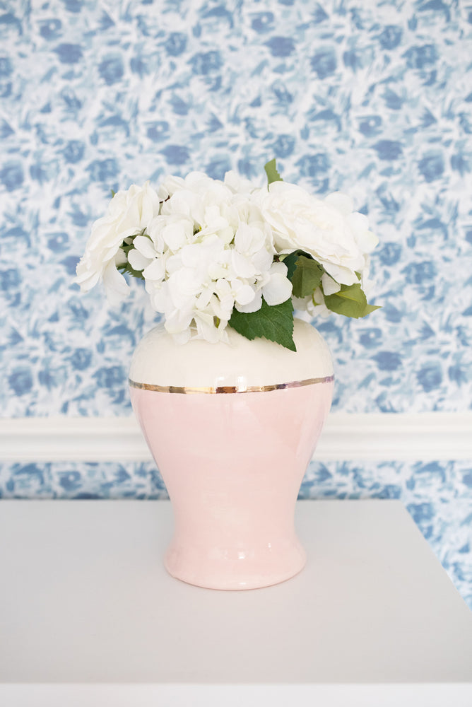 """Floralie"" by Lo Home x Taelor Fisher Wallpaper in Blue"