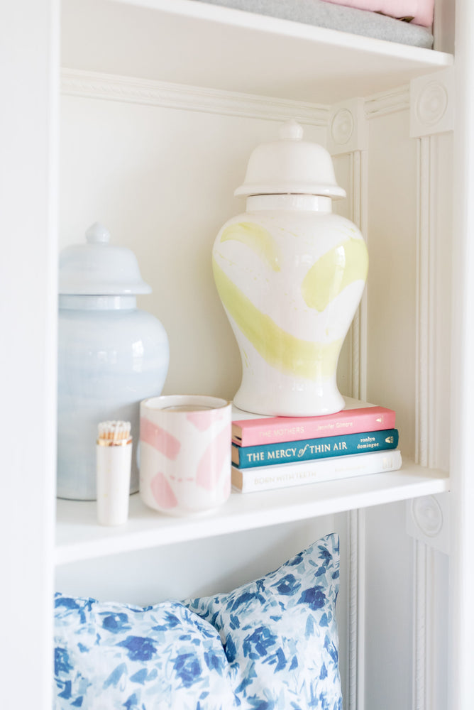 Light Chartreuse Green Brushstroke Ginger Jars