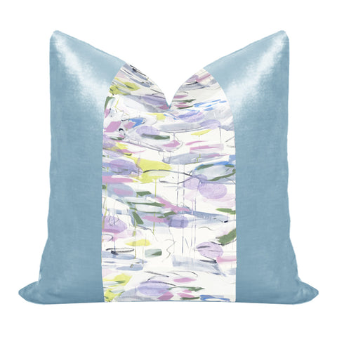 Silk and Velvet Panel Pillow by Lo Home x Taelor Fisher in