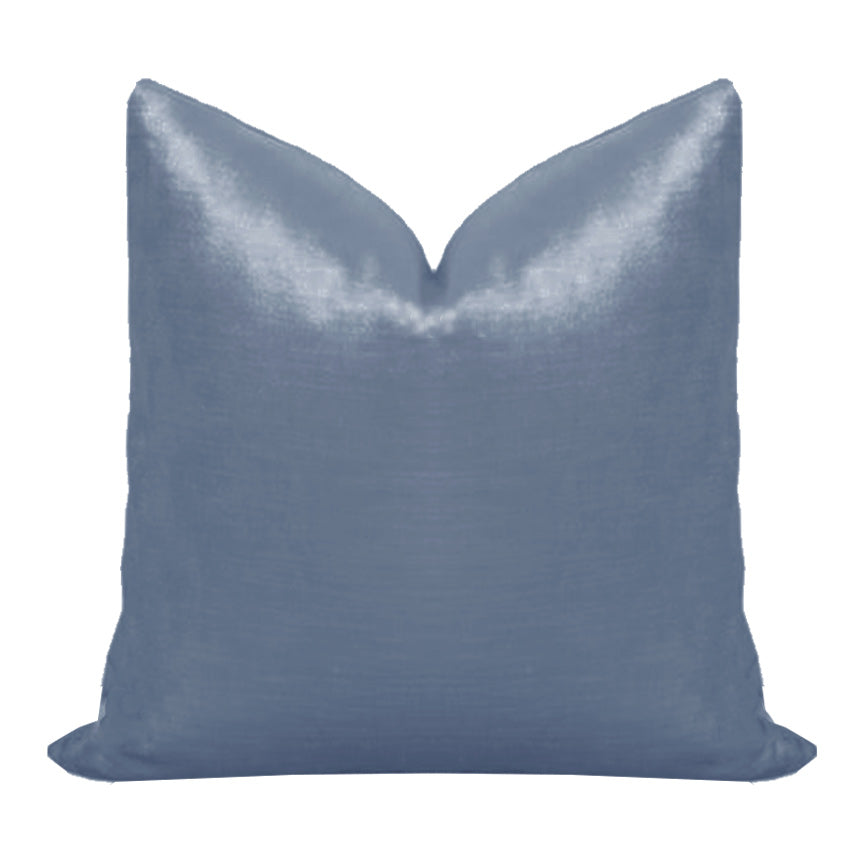 French Blue Velvet Pillow