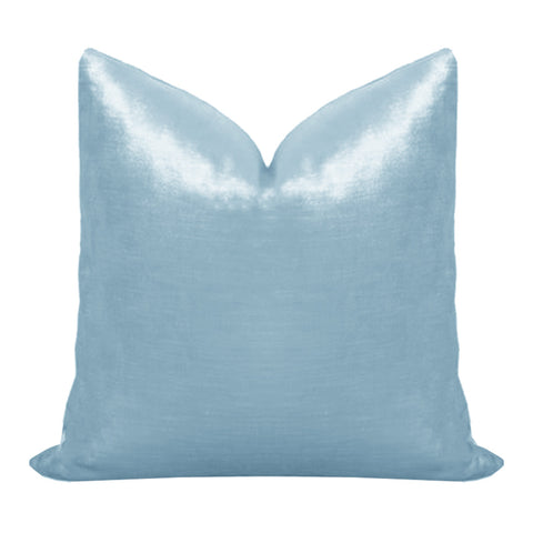 Hydrangea Light Blue Velvet Pillow