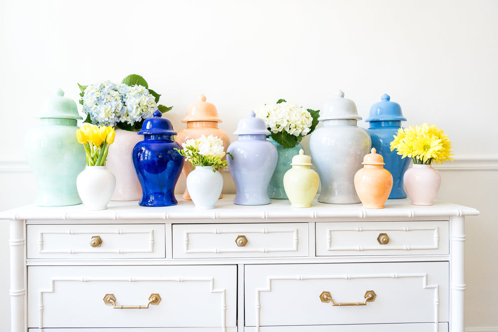 Hydrangea Light Blue Ginger Jars