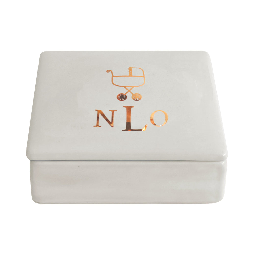 New Baby Keepsake Monogrammed Box