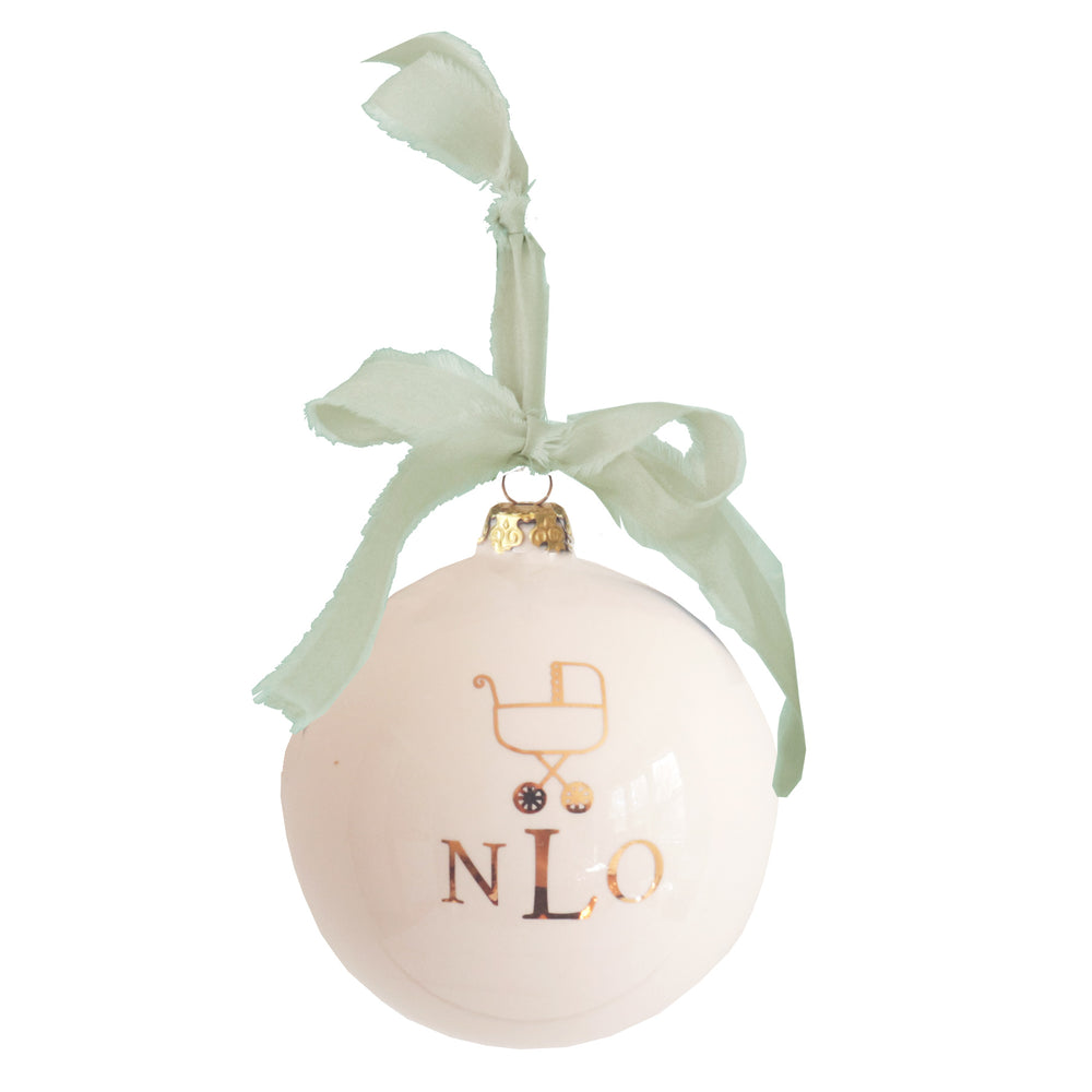 Monogrammed Keepsake Ornament- Baby's First Christmas