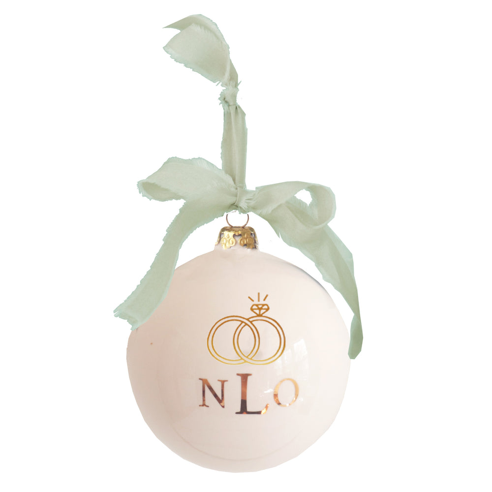 Monogrammed Keepsake Ornament- Wedding