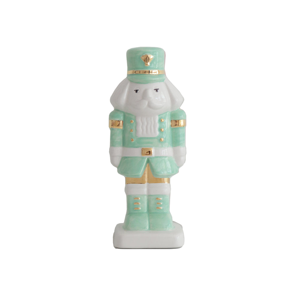 Sea Glass Nutcracker with 22K Gold Accents