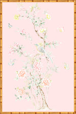 """Chinoiserie Garden 1"" Framed Panel in ""Blush"" by Lo Home X Tashi Tsering"
