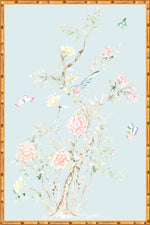 """Chinoiserie Garden 2"" Framed Panel in ""Lake"" by Lo Home X Tashi Tsering"