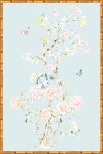"""Chinoiserie Garden 3"" Framed Panel in ""Lake"" by Lo Home X Tashi Tsering"