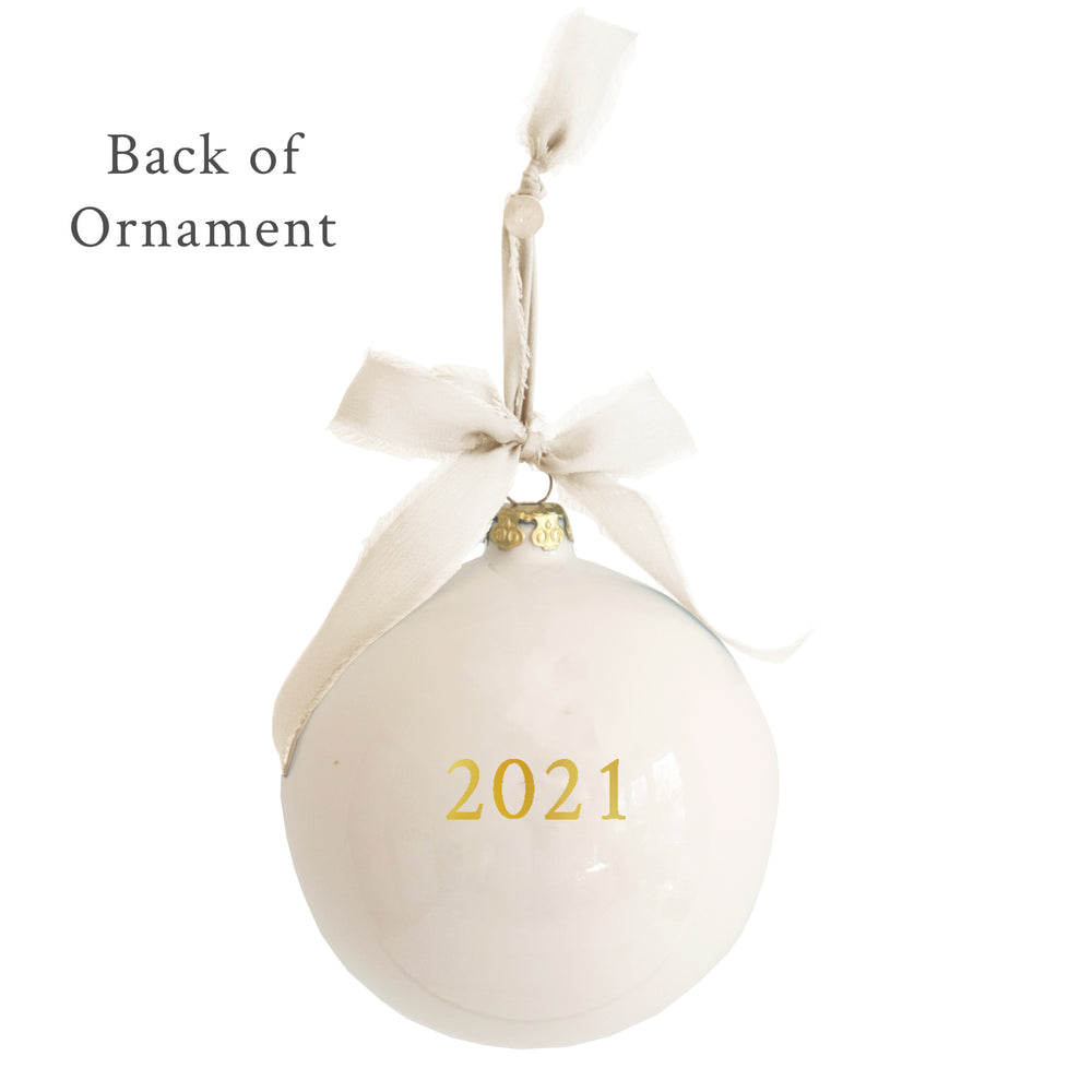 Monogrammed Keepsake Ornament- Baptism / First Communion / Confirmation