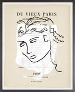 Parisian Page Print 1- Greek Portrait Black on White