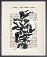 Parisian Page Print 7- Black and White Vase