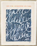 Parisian Page Print 14- Blue and White Abstract Loops