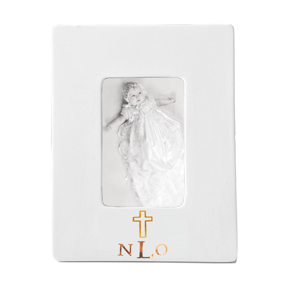 Baptism/ First Communion Keepsake Monogrammed Photo Frame
