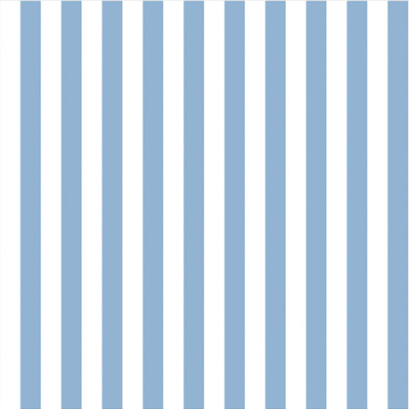 """The Perfect Stripe"" Wallpaper in French Blue"