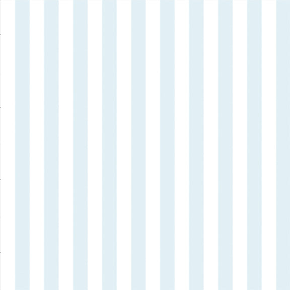 """The Perfect Stripe"" Wallpaper in Hydrangea Blue"