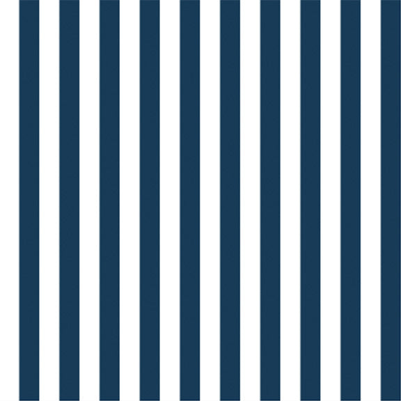 """The Perfect Stripe"" Wallpaper in Navy Blue"