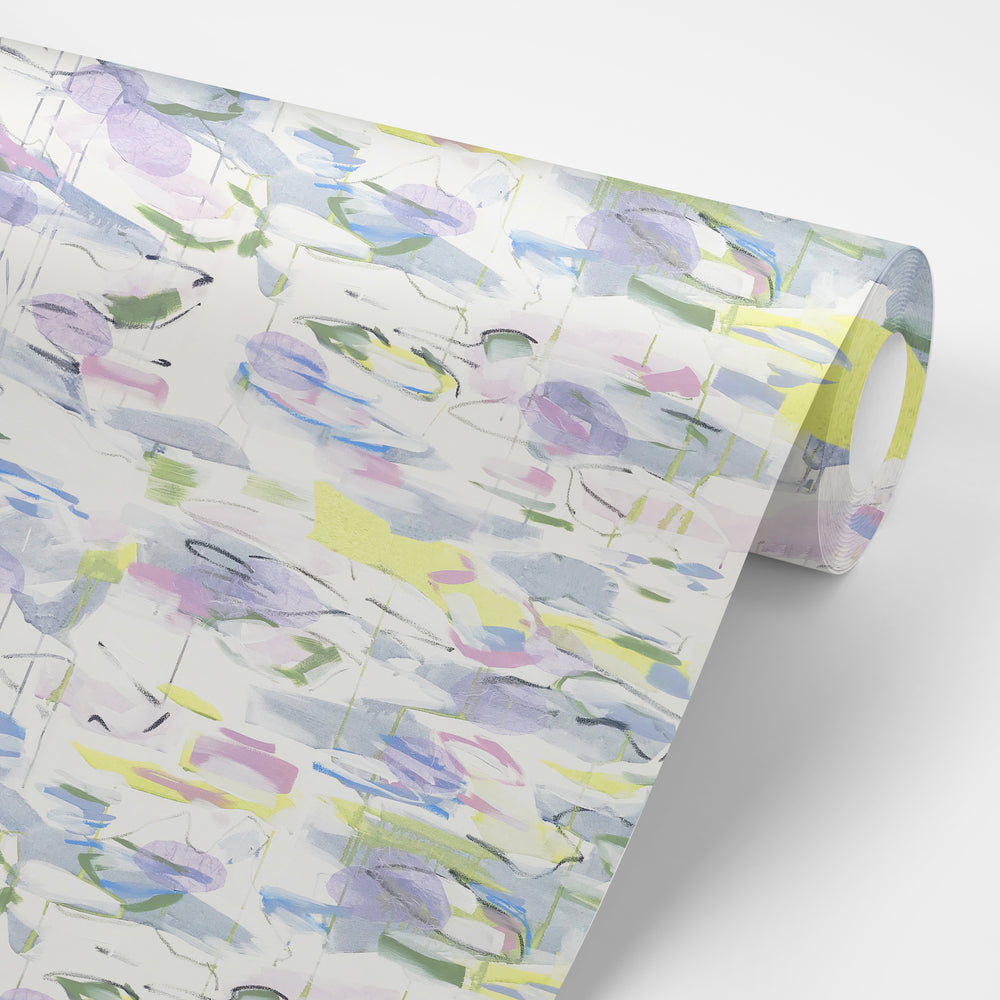 """Water Lilies"" by Lo Home x Taelor Fisher Wallpaper"