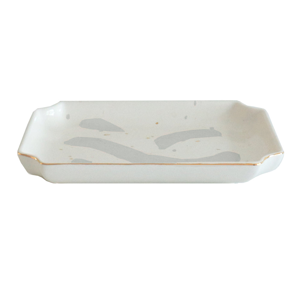 Brushstroke Trays with Gold Accent