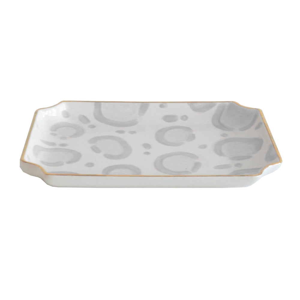 Leopard Trays with Gold Accent
