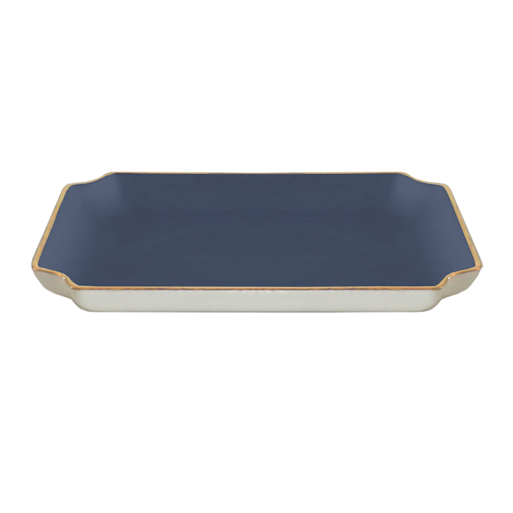 Solid Trays with Gold Accent