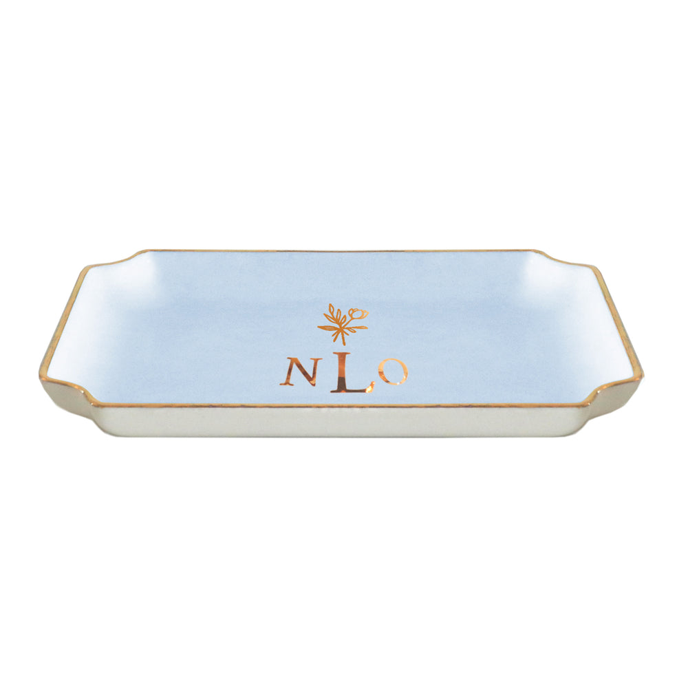 Bouquet of Flowers Keepsake Monogrammed Tray