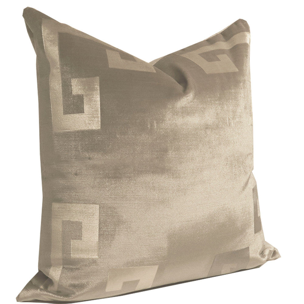 Dune Velvet Greek Key Pillow