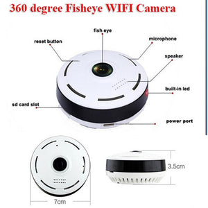 HD 360 Degree Panoramic Wide Angle Fisheye - HD Home Security Wifi Camera