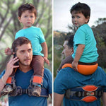 Shoulder Carrier with Ankle Straps and Cushioned Hip Infant Seat