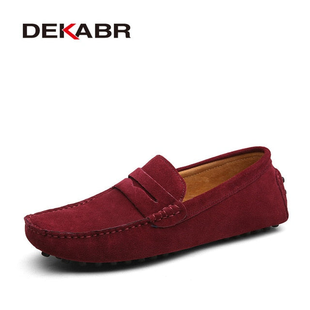 Men Fashion Summer Style Luxury Soft Moccasins Men Loafers Genuine Leather Shoes Flats