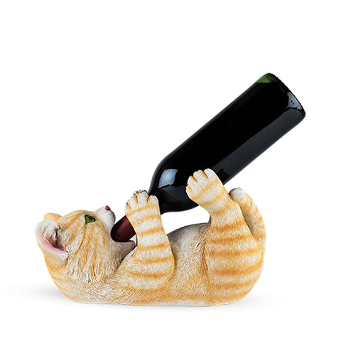 Tippler Tabby Cat Bottle Holder by True